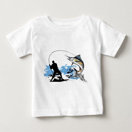 Amo el pescar playera de bebé