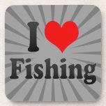 Amo el pescar posavasos de bebidas