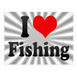 Amo el pescar postales