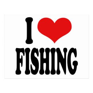 Amo el pescar tarjetas postales