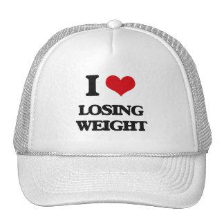 Amo el peso perdidoso gorras