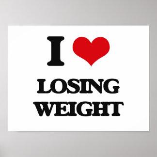 Amo el peso perdidoso poster
