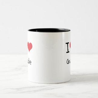 Amo el petróleo bruto tazas de café