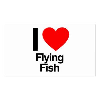 amo el pez volador tarjeta de visita
