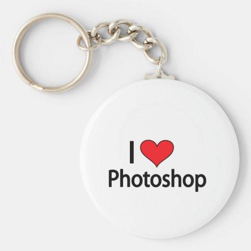 Amo el photoshop llavero redondo tipo pin