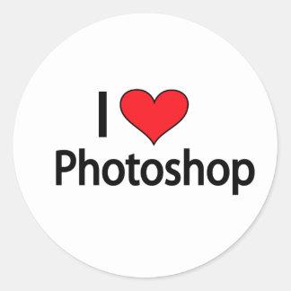 Amo el photoshop etiquetas redondas