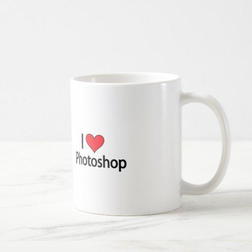 Amo el photoshop taza de café