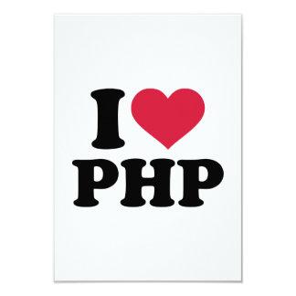 """Amo el PHP Invitación 3.5"""" X 5"""""""