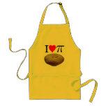 Amo el pi, yo amo la empanada, corazón pi de I Delantales