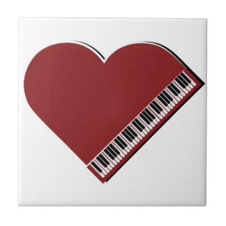 Amo el piano azulejo cuadrado pequeño