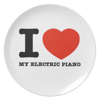 Amo el piano eléctrico plato