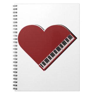 Amo el piano libreta espiral