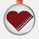 Amo el piano ornamento de navidad