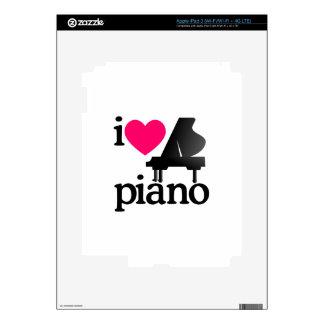Amo el piano pegatina skin para iPad 3