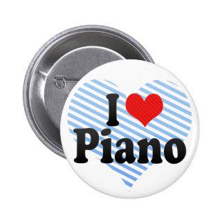 Amo el piano pin redondo 5 cm