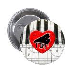 Amo el piano pin
