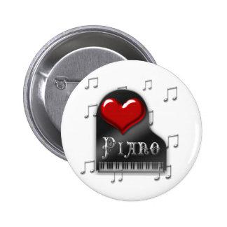 Amo el piano pins
