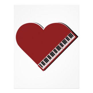 Amo el piano plantillas de membrete