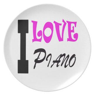 Amo el piano plato de comida