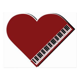 Amo el piano postal