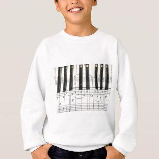 Amo el piano sudadera