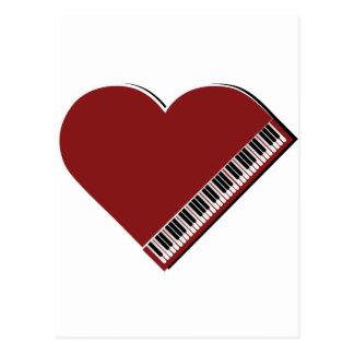 Amo el piano tarjeta postal