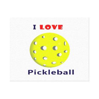 amo el pickleball rojo graphic.png del texto del p impresión en lienzo estirada