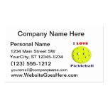 amo el pickleball rojo graphic.png del texto del tarjetas de visita