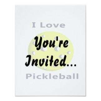 """Amo el pickleball w ball.png amarillo invitación 4.25"""" x 5.5"""""""