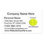 Amo el pickleball w ball.png amarillo tarjeta de visita