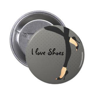 Amo el Pin de la moda de los zapatos