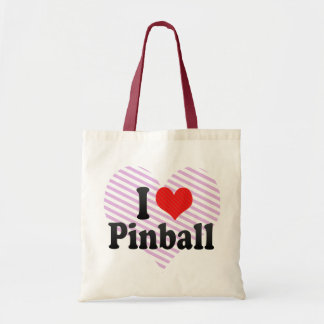 Amo el pinball bolsa tela barata