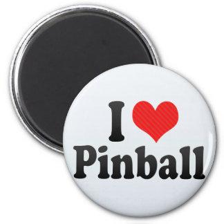 Amo el pinball imán redondo 5 cm