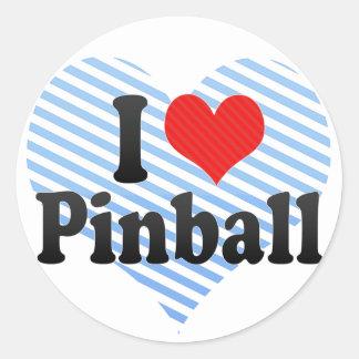 Amo el pinball pegatina redonda