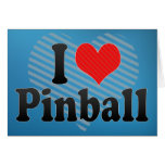 Amo el pinball tarjetas