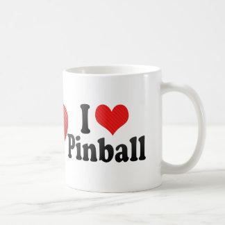Amo el pinball taza