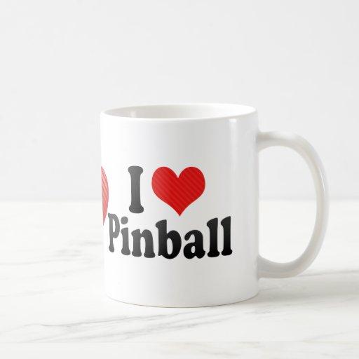 Amo el pinball tazas