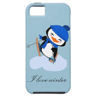 Amo el pingüino del vinter - caso del iphone 5/s5 iPhone 5 fundas