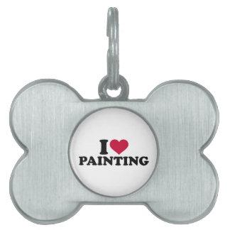 Amo el pintar placas de mascota