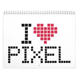 Amo el pixel calendarios