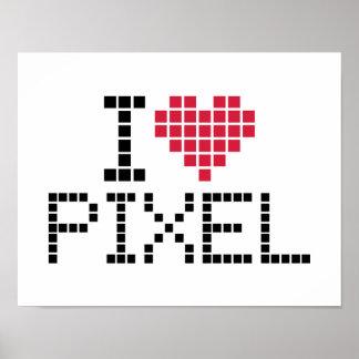 Amo el pixel posters