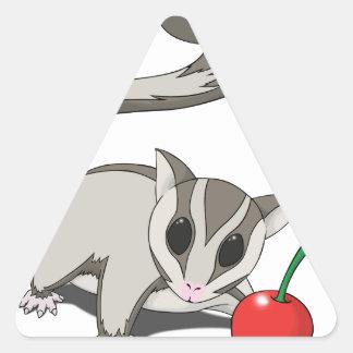 Amo el planeador del azúcar pegatina triangular