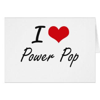Amo el PODER POP Tarjeta Pequeña