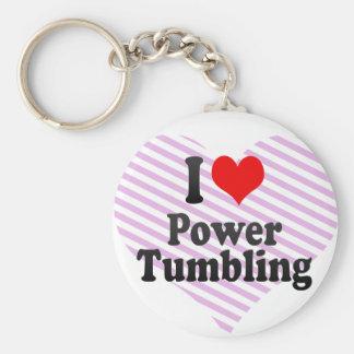 Amo el poder que cae llavero personalizado