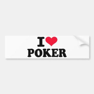 Amo el póker pegatina de parachoque