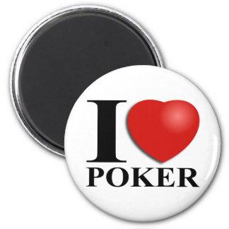 Amo el póker imán redondo 5 cm