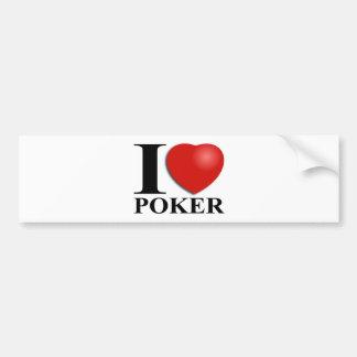 Amo el póker pegatina para auto