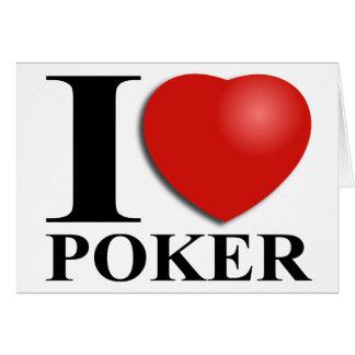 Amo el póker tarjeta de felicitación