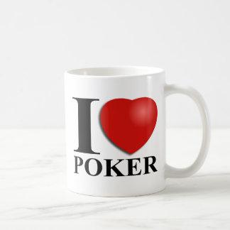 Amo el póker taza de café