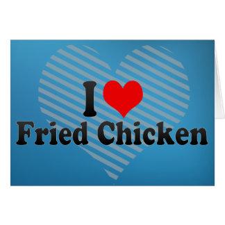 Amo el pollo frito felicitacion